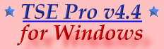 New for TSE Pro v4.4 for Windows